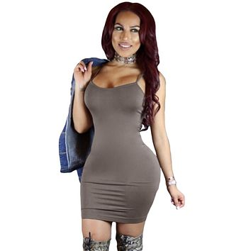 Grey Seamless Bodycon Dress