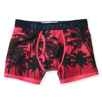 Palm Tree Print Knit Boxer Briefs
