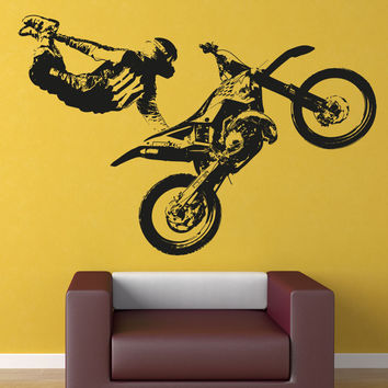 Vinyl Wall Decal Sticker Motocross Trick #OS_AA195