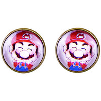 Cartoon Super Mario Earrings, Super Mario Brother Accessories, Game Animation Earrings, Video Game Gameboy Accessories, Cosplay Accessories