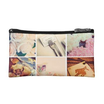 Custom Instagram Photo Collage Makeup Bag