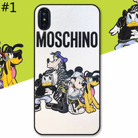 Moschino x Disney co-branded tide brand couple soft shell iPhone XS Max phone case #1