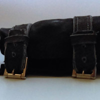 Black Cuff with Grey Straps and Buckles