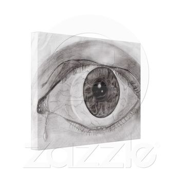 Crying Eye Sketch Gallery Wrap Canvas from Zazzle.com