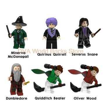 For Legoing Harry Potter Figures Philosopher's Stone Professor Snape McGonagall Quirrell Oliver Wood Building Blocks Bricks toys