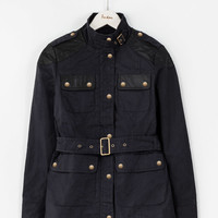 Fitted Waxed Jacket (Navy)