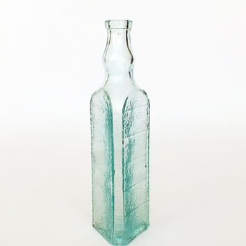 Rare Soviet antique glass bottle for vinegar