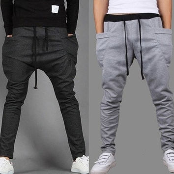 Outdoors Saroul roupas Hombre Calca Masculinas Pantalones Baggy Pants Trousers Drop Crotch Sport Hip Hop Harem Joggers Jogging [9305622983]