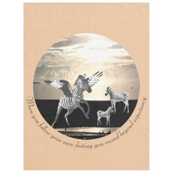 Destiny Quote by Kat Worth Fleece Blanket