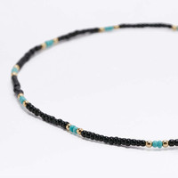 Beaded Stretch Choker Necklace - Urban Outfitters