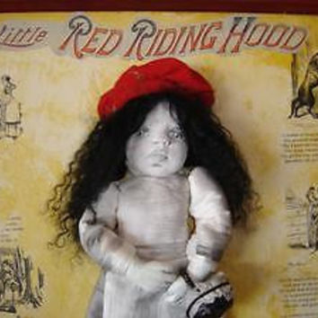 Nancy Latham Artist Doll One of A Kind Red Riding Hood Bad Wolf