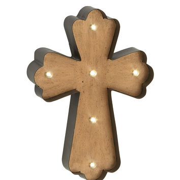 Attractively Styled Metal Lite Wall Cross