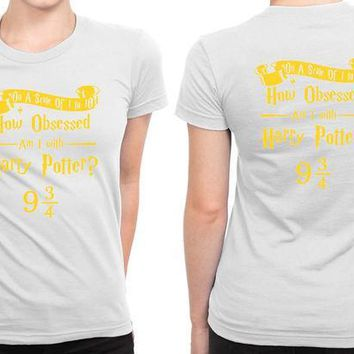 ESBH9S Harry Potter Obsession B 2 Sided Womens T Shirt