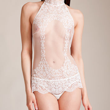 La Perla: Light and Shadow String Body at Nancy Meyer