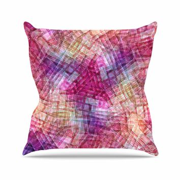 "Justyna Jaszke ""Mandala Colors Of Life"" Multicolor Pastel Abstract Pattern Digital Illustration Outdoor Throw Pillow"