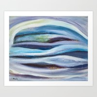 Cool Tranquil Dream Abstract Painting Art Print by mariameesterart