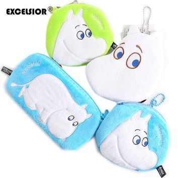 EXCELSIOR  Lovely Moomin Cartoon purse little my wallet / coin bags Key Purse card bag/phone bags anime plush storage bag sac