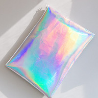 Women NEW Hezwagarcia Stylish Snake Skin Pattern Holographic Hologram Clutch Hand Bag Purse