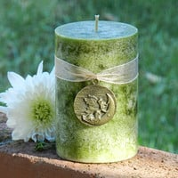 The Green Fairy . Absinthe 2x3 Candle . Inspiration, Creativity, Psychic Intuition, Love, Protection. Faerie Workings