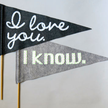 Star Wars Pennant Flags - Grey with Neon Accents - Mr & Mrs Wedding, Save the Date, Ceremony, Photo Booth prop New Design