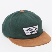 Vans Patched Unstructured Strapback Hat - Mens Backpack - Green - NOSZ