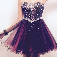 Burgundy Homecoming Dress, Short Homecoming Dress