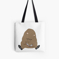 'Theodore Loves Books' Tote Bag by Susan Evans