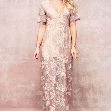 Romantic Lace Maxi Dress