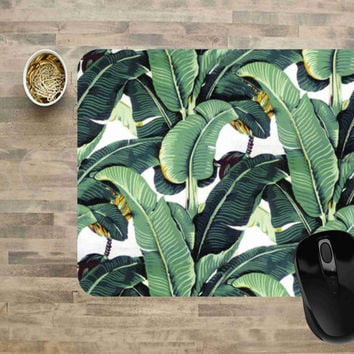 Computer Mouse Pads, Mouse Pads, Floral Mouse Pads, Mouse Pads for Computers, Banana Leaf Mouse Pad, Mouse Pad, Rectangle Mouse Pad