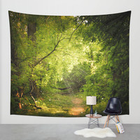 The Secret Path Wall Tapestry by Jenndalyn