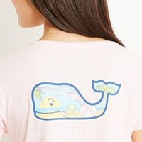 Beach Whale Graphic Pocket Tee