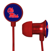 Ole Miss Rebels Scorch Earbuds + Mic with BudBag