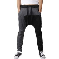Magiftbox Man's Casual Harem Mix-color Loose Sweatpants Dancing Sports Pants