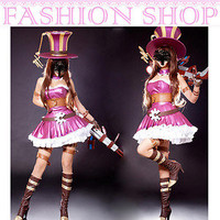 HOT Sweet League of Legends Hero Caitlyn Cosplay Costumes Fancy Lolita Dress