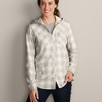 Stine's Favorite Flannel Hooded Shirt Jacket | Eddie Bauer