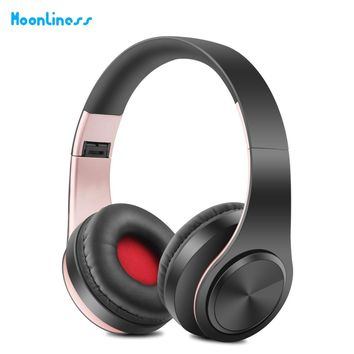 New Portable Wireless Headphones Bluetooth Headset Audio Mp3 Adjustable Earphones with Microphone for Music