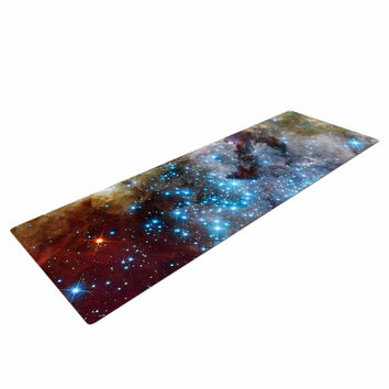 """Suzanne Carter """"Star Cluster"""" Blue Space Yoga Mat"""