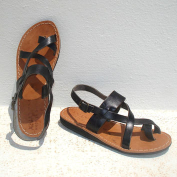 SPECIAL SALE - Roman Greek leather sandals size 7, EU size 38