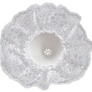 "bouquet holder lace collar 9""-white"