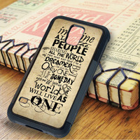 The Fault In Our Stars Quotes In Old Paper Samsung Galaxy S5 Case
