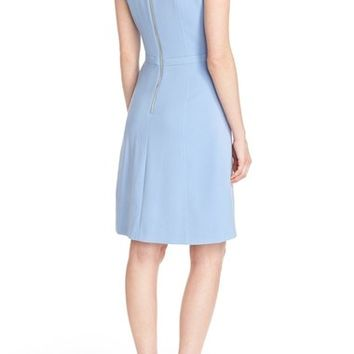 Eliza J Crepe Fit & Flare Dress (Regular & Petite) | Nordstrom
