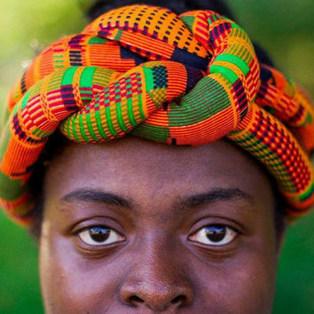 Kente  Fabric Boho Knotted Headband Earwarmer