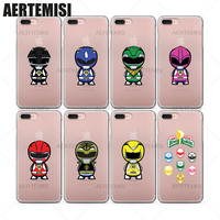 Phone Cases Mighty Morphin Power Rangers Clear TPU Case Cover for iPhone 5 5s SE 6 6s 7 Plus