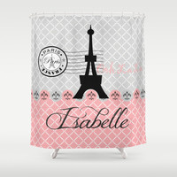 Oh La La Paris  Personalized Shower Curtain