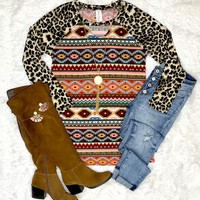 Leopard & Tribal Top