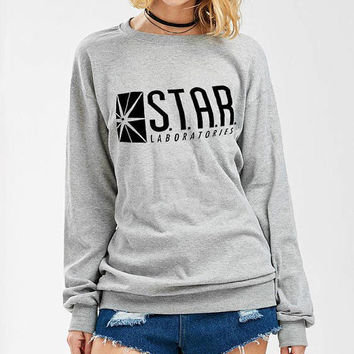 Star Labs sweatshirt. Star Laboratories Flash The TV Series S.T.A.R. Labs shirt quote funny graphic sweater crewneck pullover sweatshirt