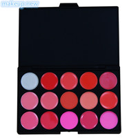 1pcs 15 color High Quality 15 Colors Lip Gloss Palette Makeup Lipstick Palette Lipgloss Lips Lip Pigment Lip Palette set base