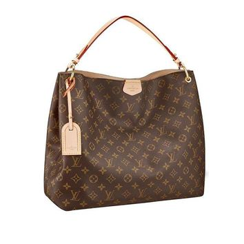 DCCKU7Q Louis Vuitton Monogram Canvas Graceful MM Beige Article:M43704 Made in France