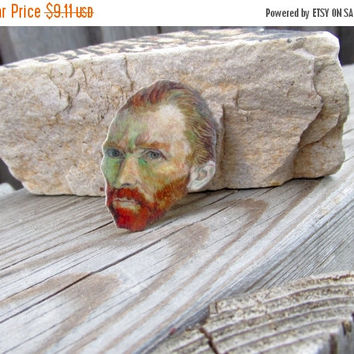 20% OFF Vincent Van Gogh- Artists pin, gift idea, cool jewelry,Post impressionistic painter,Art pin, Artists gift
