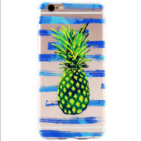 a Pineapple Printed iPhone 7 7Plus & iPhone se 5s 6 6 Plus Case Cover +Gift Box-86